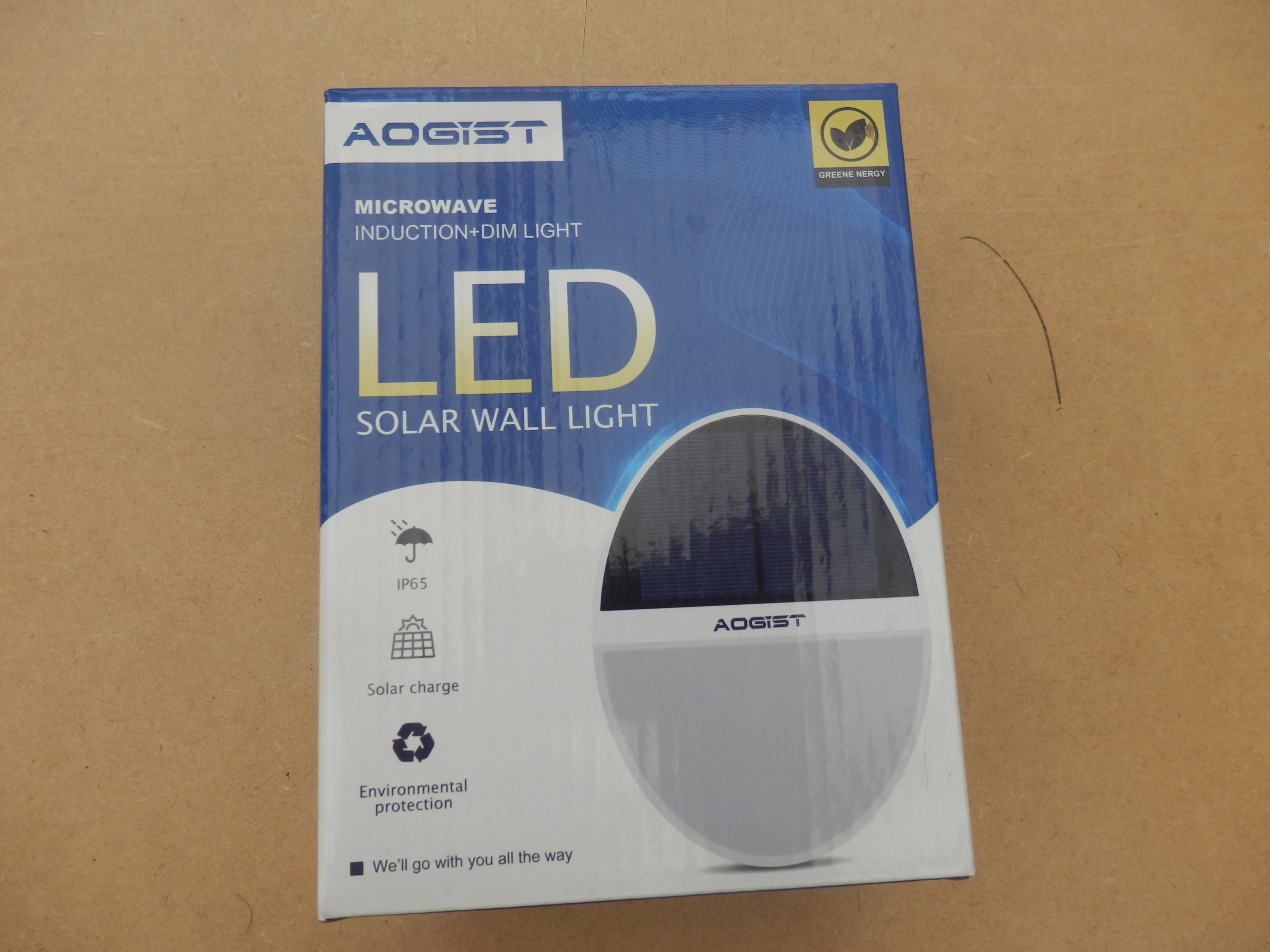 Aogist 2 Pack Solar Outdoor Motion Sensor Lights