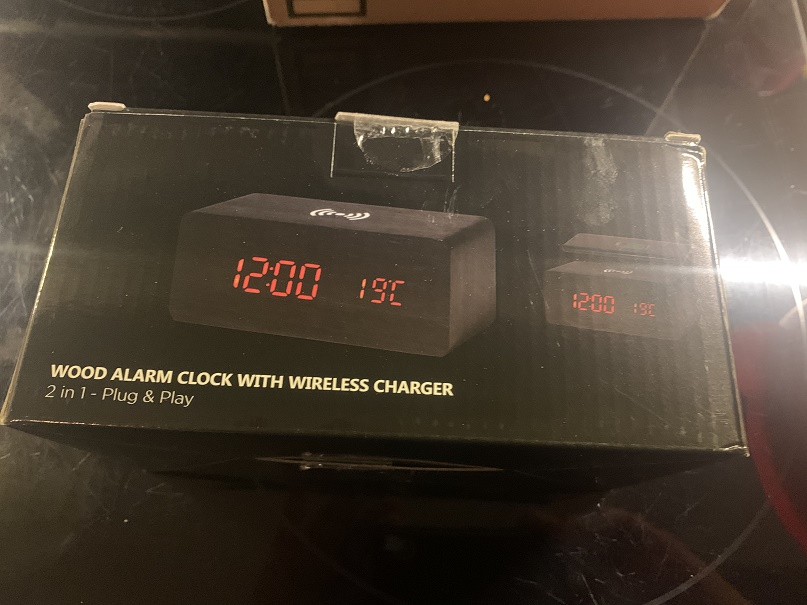 Digital Alarm Clock with Wireless Phone Charger