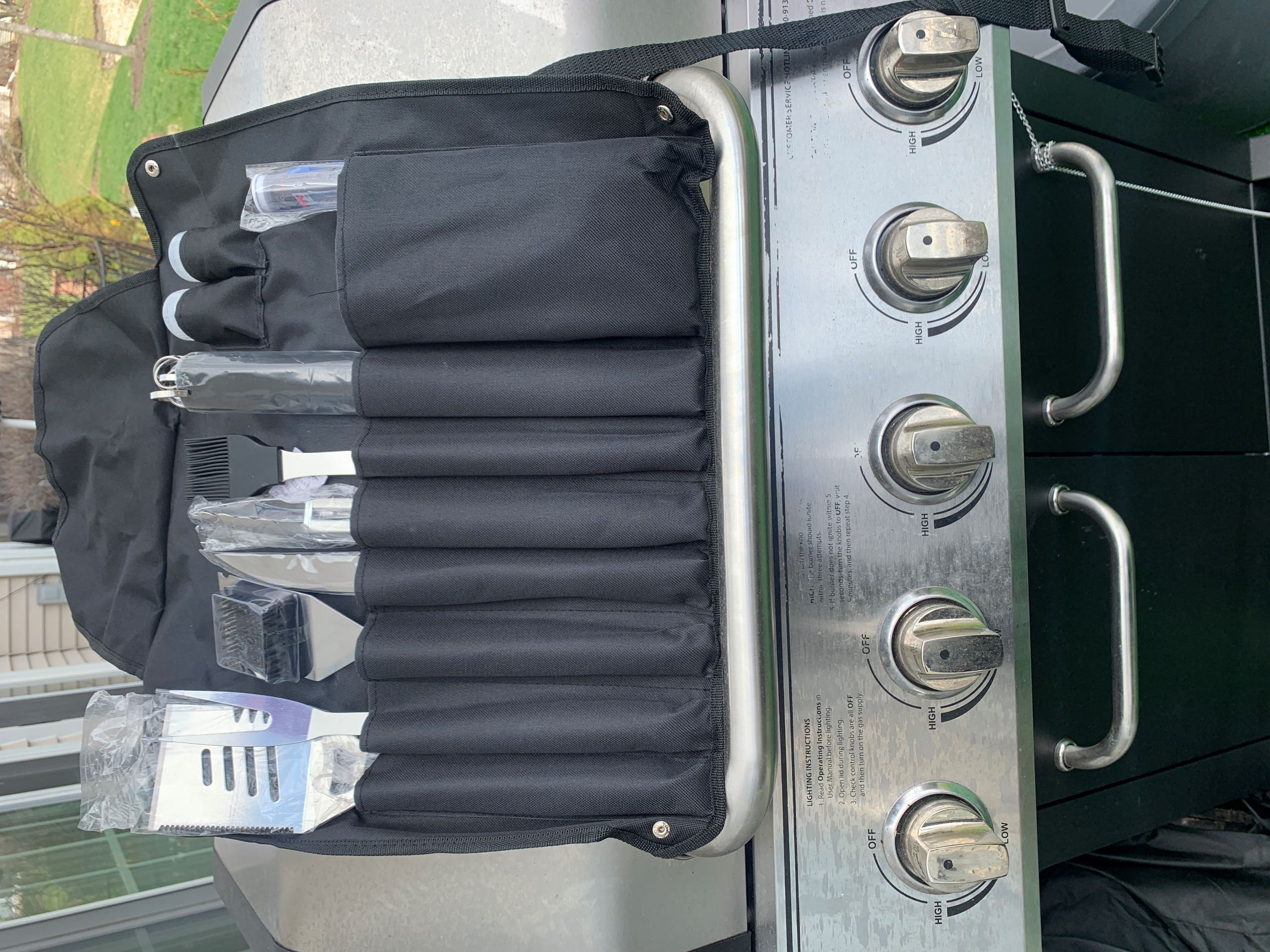 Nice quality BBQ tools and neat storage