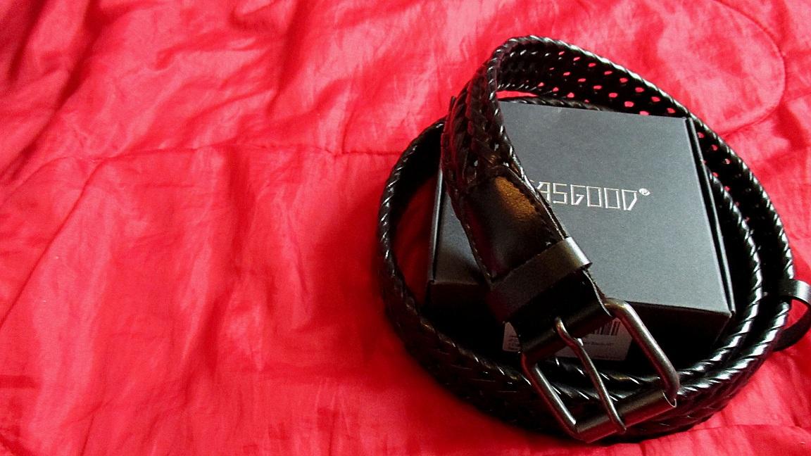 JasGood Men's Braid-Weave Belt