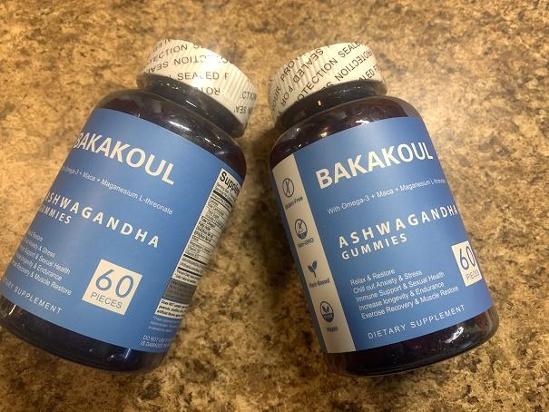Stress relief gummy supplements