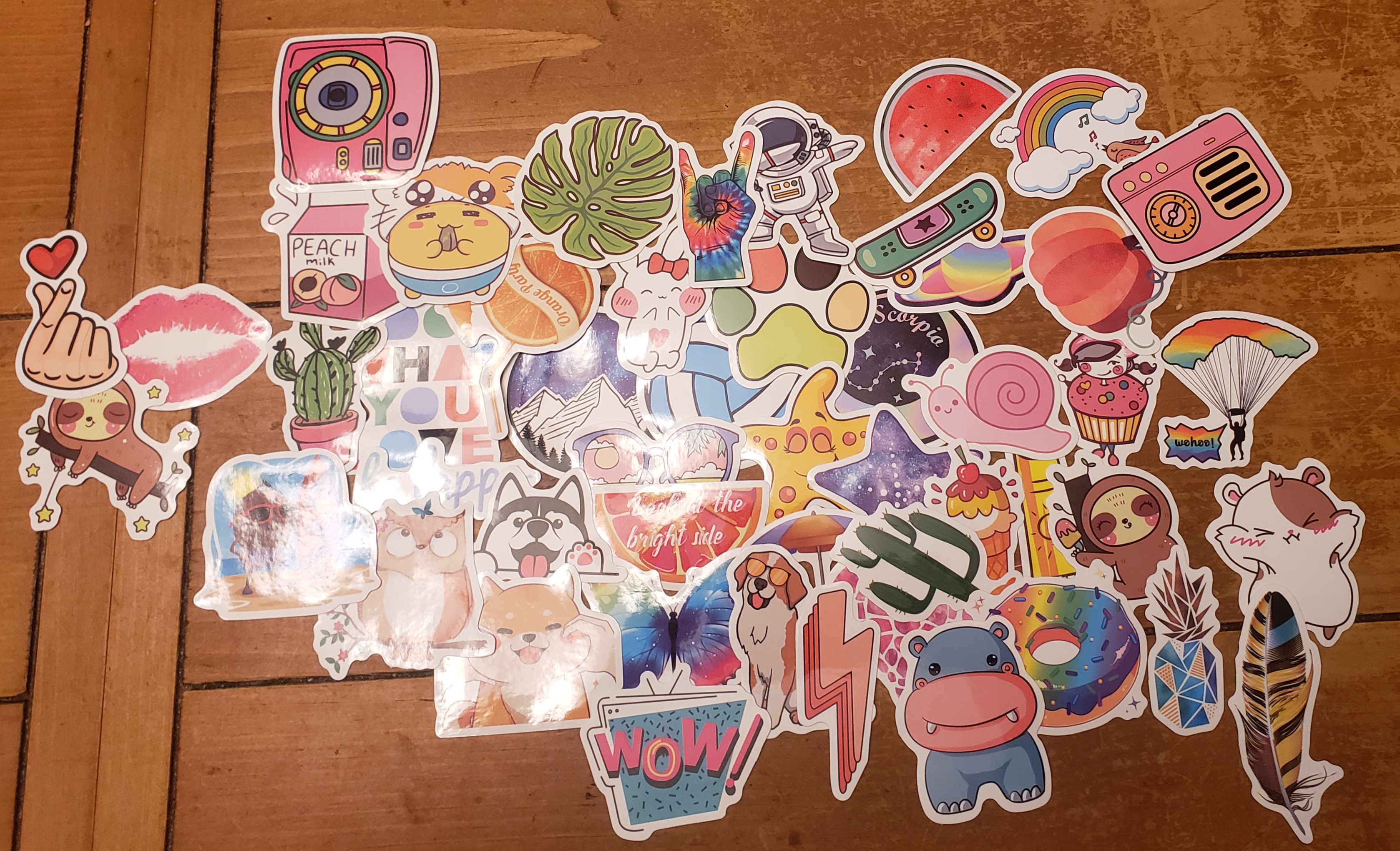 Great small assortment of cute vinyl stickers.