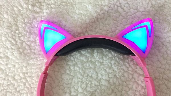 Styling with my LED Cat Ear headphones!