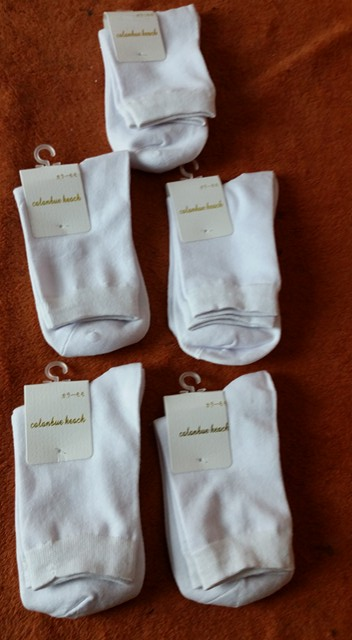 Spectacular socks, 5 pairs was a great value, very high quality, soft, stretchy, fits my husband's 10.5 size feet perfectly, mositure wickening & MORE!