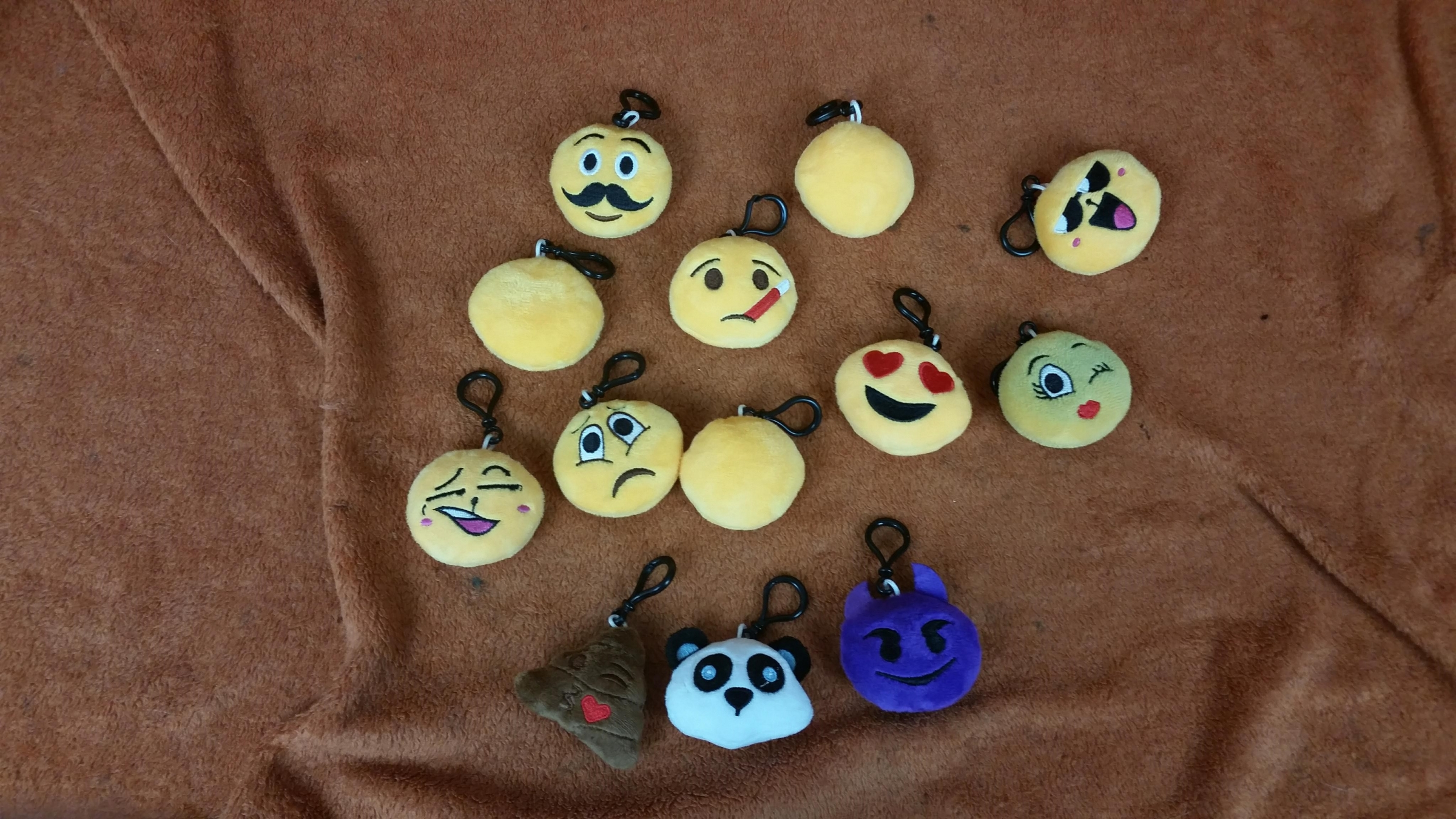 Well stitched, fun, cute different emoji plush key chains, LOTS to choose from, made for perfect stocking stuffers for Christmas for my family.