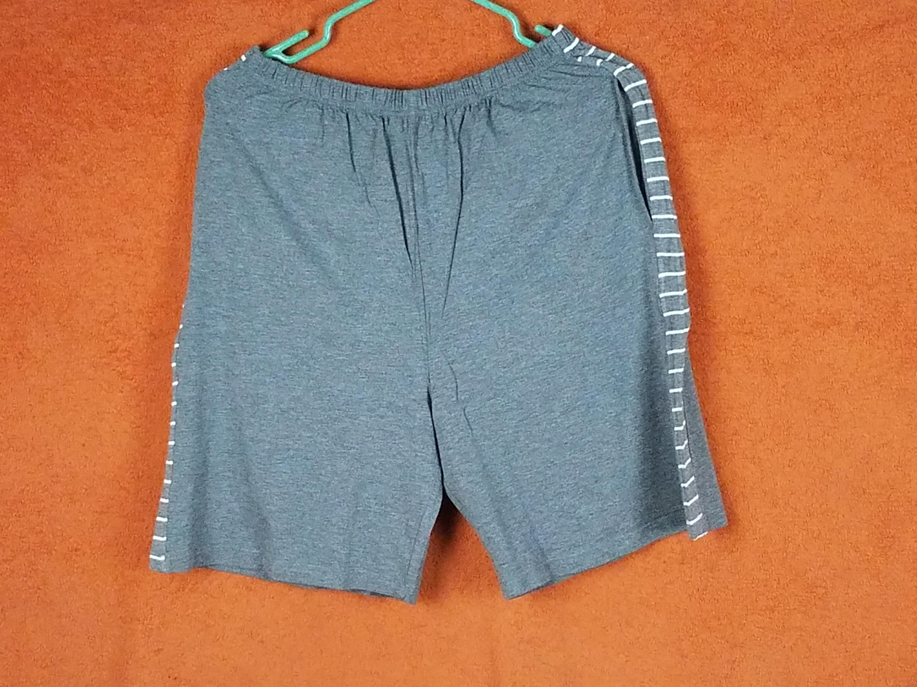 Shorts with short sleeved top striped pajama set is comfortable, breathable, & nice to lounge around or sleep in, but order a size up!