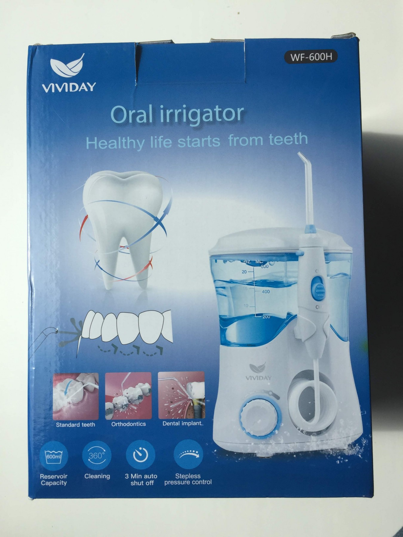 Professional Water Dental Flosser by VIVIDAY