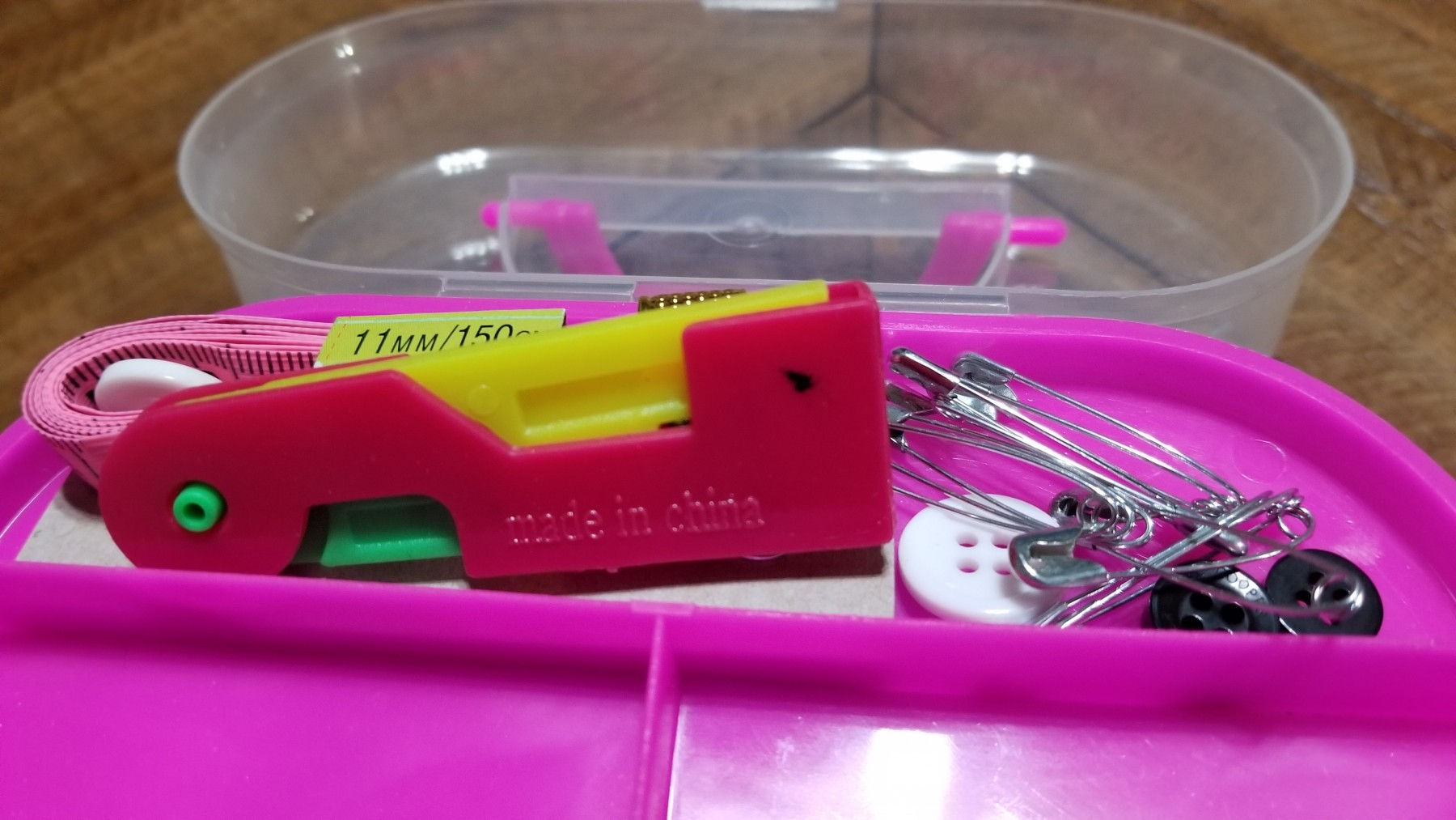 Convenient collection of sewing tools