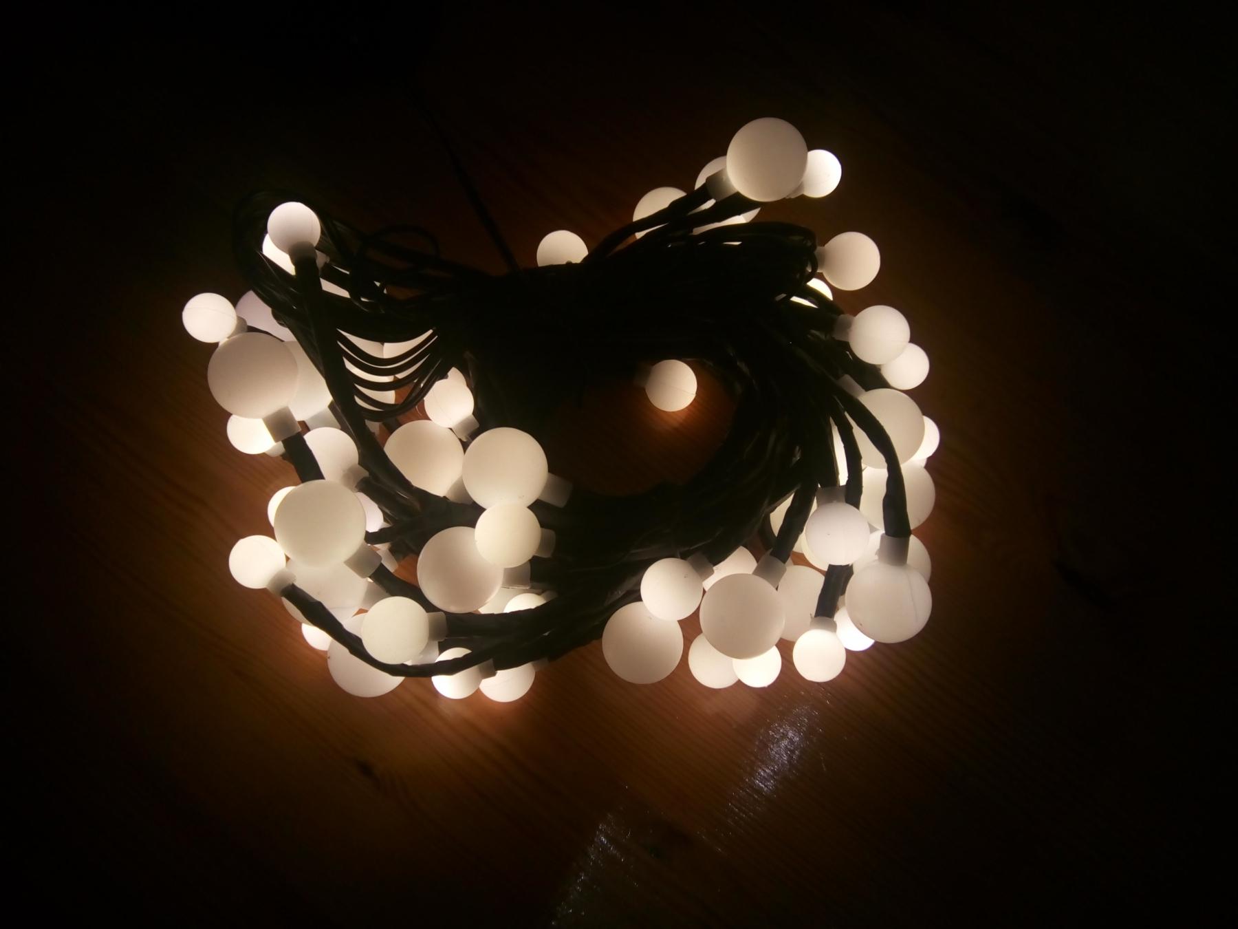 Sehr schöne Lichterkette