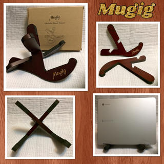 Mugig Ukulele Stand, Premium Musical Instrument Stand For Ukulele, Mandolin, Small Banjo, Violin Or Pipa, Even iPad, Easily To Assemble And separate With Two Y Shaped Pieces (Ukulele)