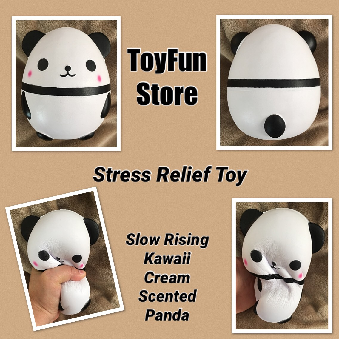 Squishy Toy, Animal Slow Rising Stress Relief Toy Kawaii Cream Scented Doll Guft For Kids Adults (One Panda) - By - ToyFun