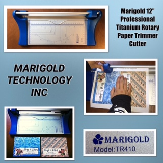 "Marigold 12"" Professional Titanium Rotary Paper Trimmer Cutter (TR410)"