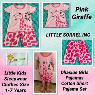 Dhasiue Girls Pajamas Cartoon Short Pajama Set Little Kids Sleepwear Clothes Size 1-7 Years