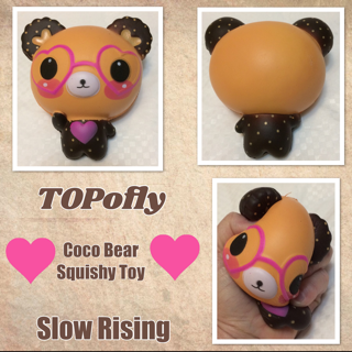 TOPofly Coco Bear Squishy Toys Slow Rising Soft Creamy Scent Stress Reliever For Kids And Adults