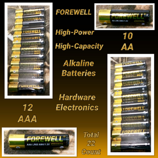 FOREWELL AA AAA High-Power High-Capacity Alkaline Batteries, Especially For High-Power Appliances, 1.5AA (LR6 AM3 2800mAH) And AAA (LR3 AM4 1200mAH). A Total Of 22 Packets (2 Board) Real High Capacity