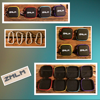 ZMLM - Earbud Carrying Case Mini Storage Pouch With Carabiner For Flash Drive, Earphones, Headphones, USB Cable 4-Pack in 4 Colors
