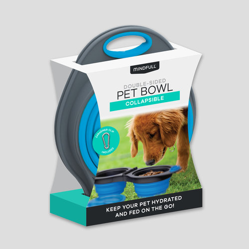 Collapsible Double-Sided Pet Bowl Set by Mindfull Products