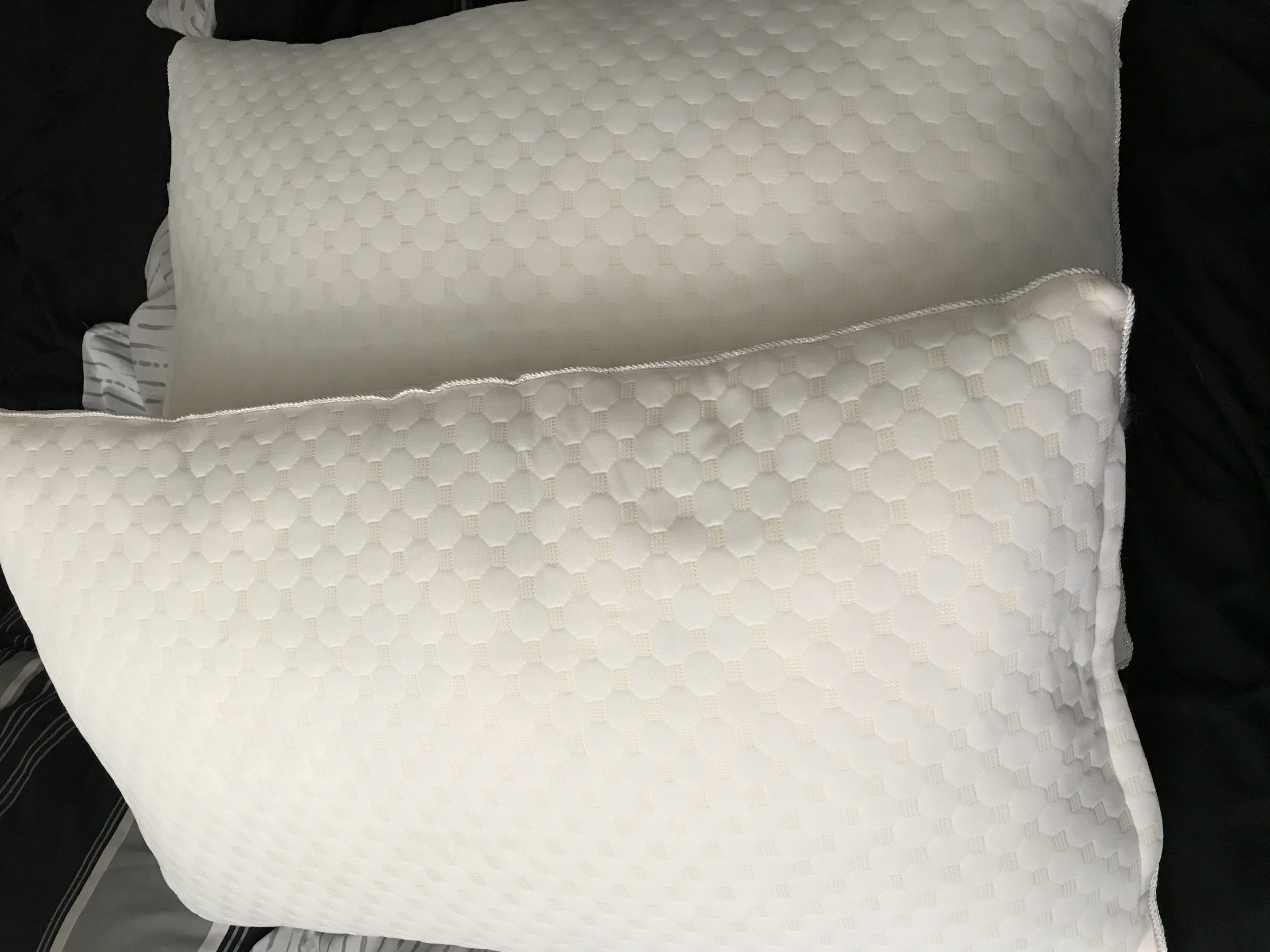 Very comfortable pillows, set of two.