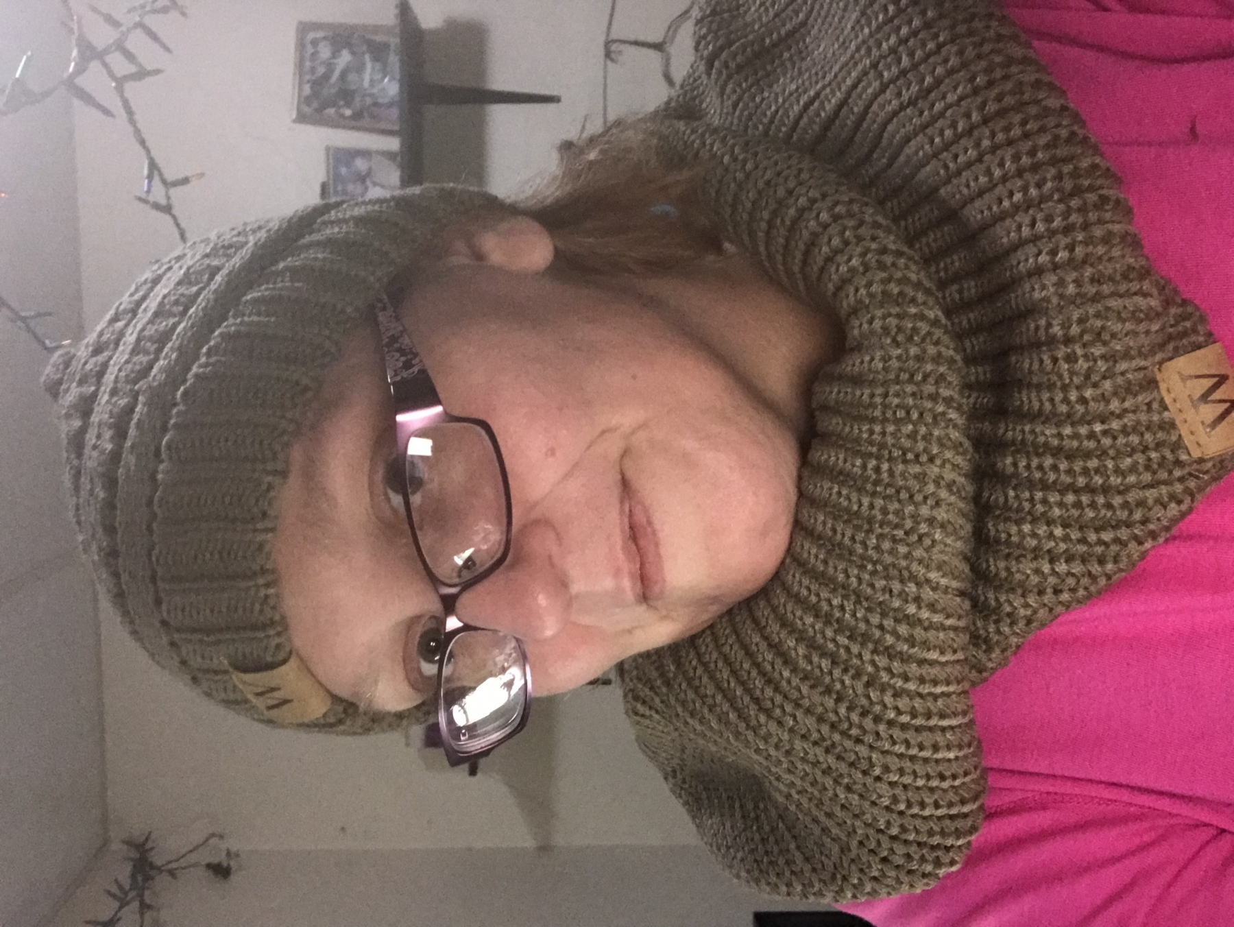 Nice and warm infinity scarf and hat!