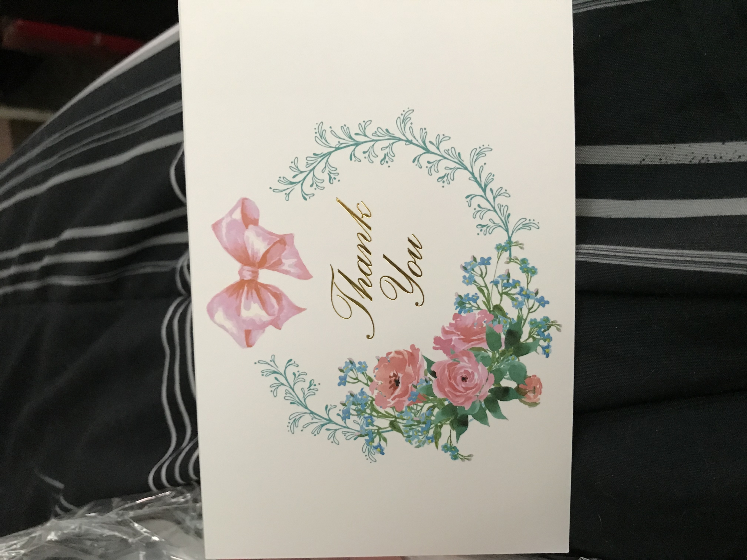 Lovely Thank You cards (blank inside)!