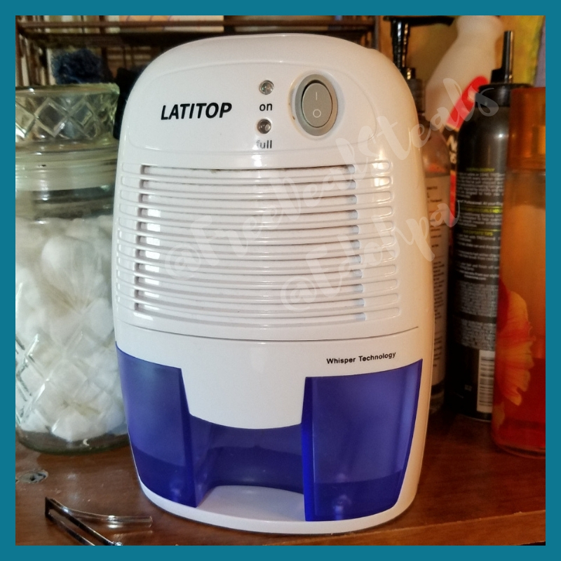 LATITOP 500ml Small Electric Dehumidifier Quiet Operation w/ Auto Shut-Off