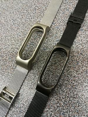 VANPLUS Ersatzband für Xiaomi Mi Band 2 Silber/Schwarz