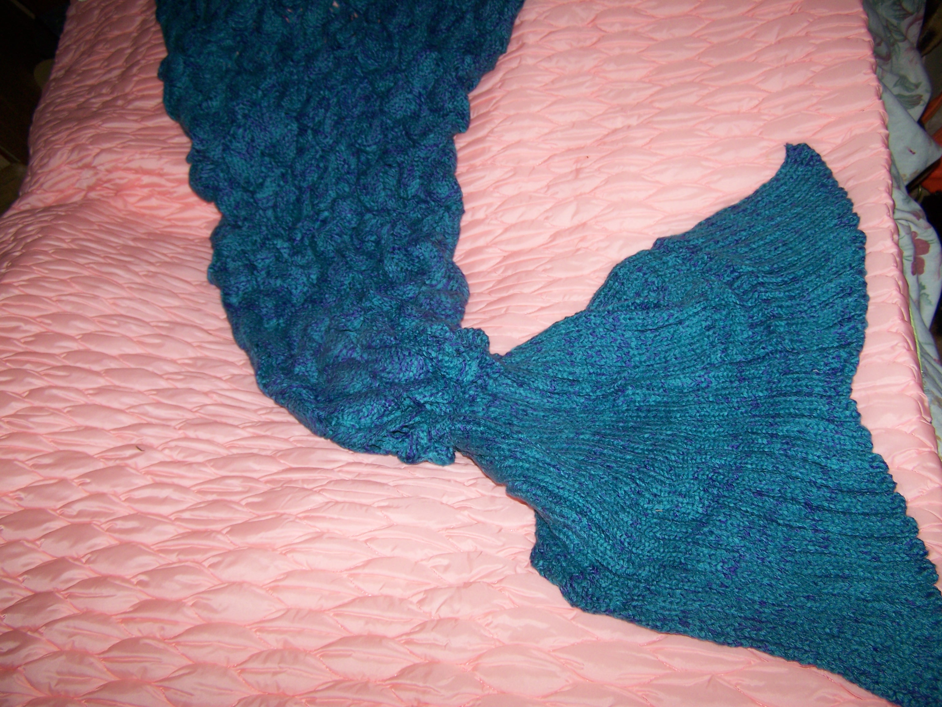 Beautiful Mermaid  Tail Blanket