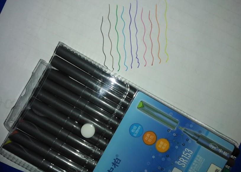 No bleed fine liner pens