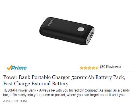 Power Bank 5200mA