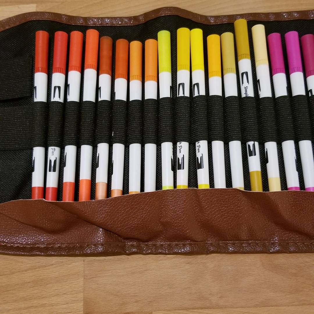 Markers and case