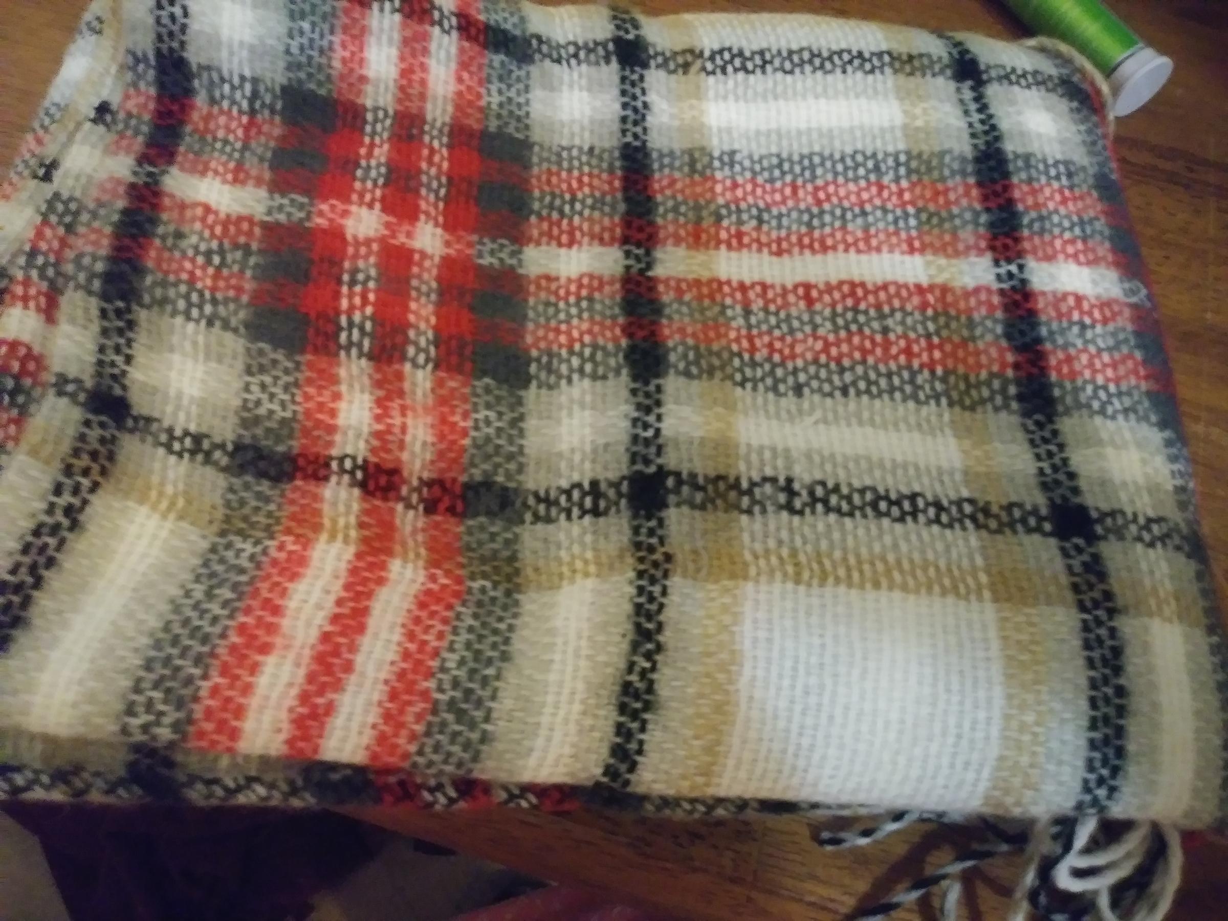 Great Plaid Blanket Scarf,