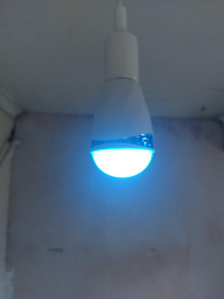 LED Smart Bulb and speaker