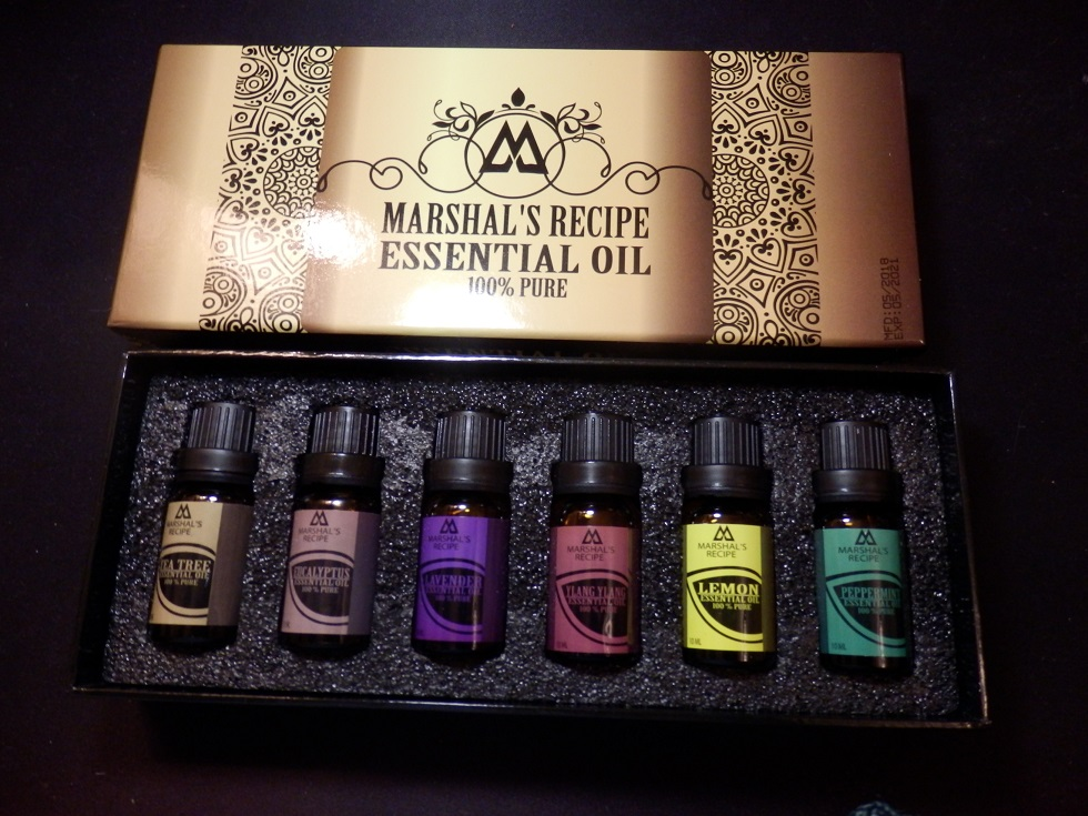 New Generation Aromatherapy Essential Oils, Set of 6 Bottles x 10 ml by Marshal's Recipe