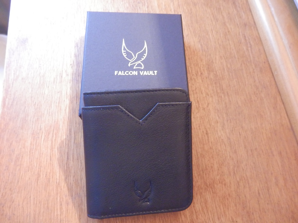 Elegant and stylish leather RFID blocking wallet for safe card storage by Falcon Vault