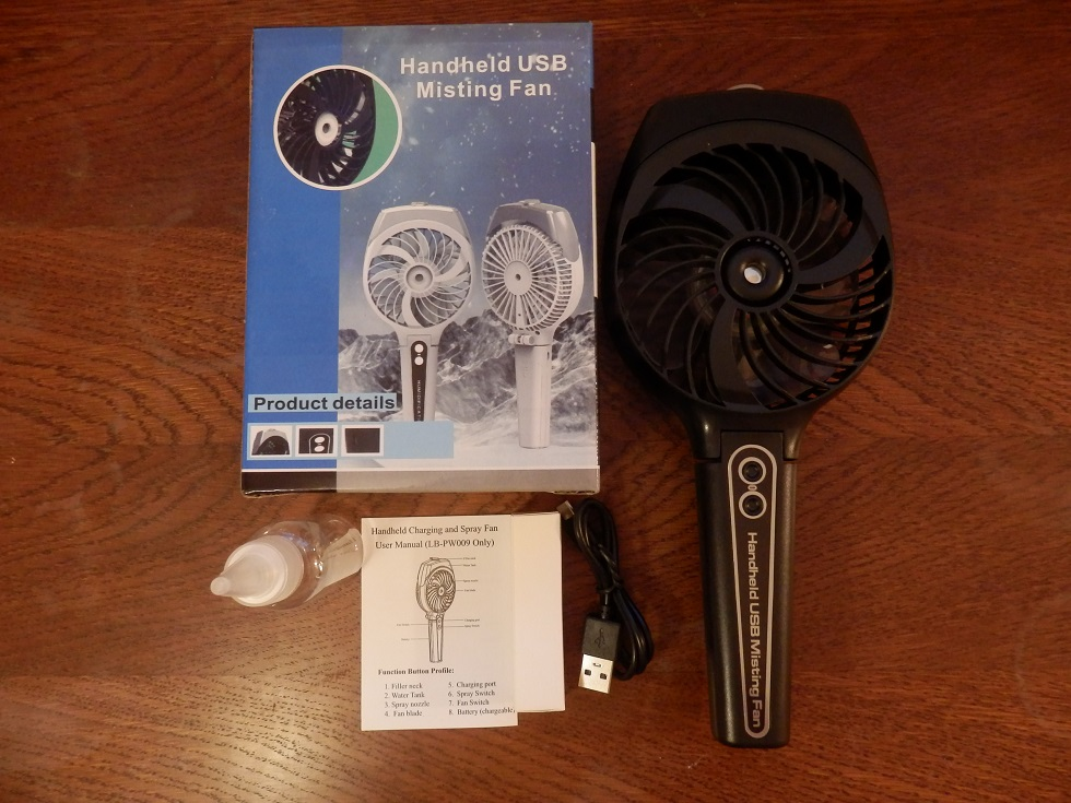 Mini Portable and Rechargeable Handheld USB Misting Fan by Wivarra
