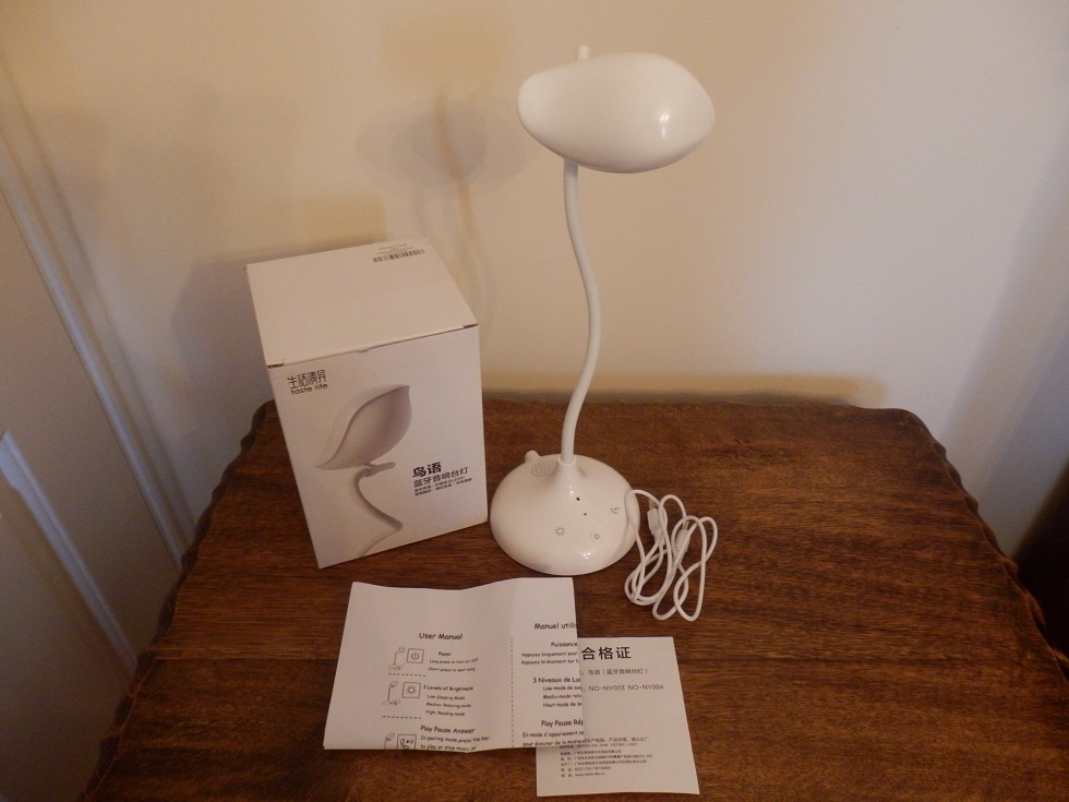A multi-functional table lamp with soft LED light and BT speaker by Heart Horse