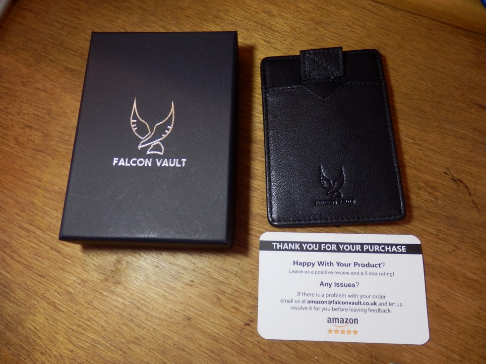 Keep data on cards protected with the RFID card holder by Falcon Vault