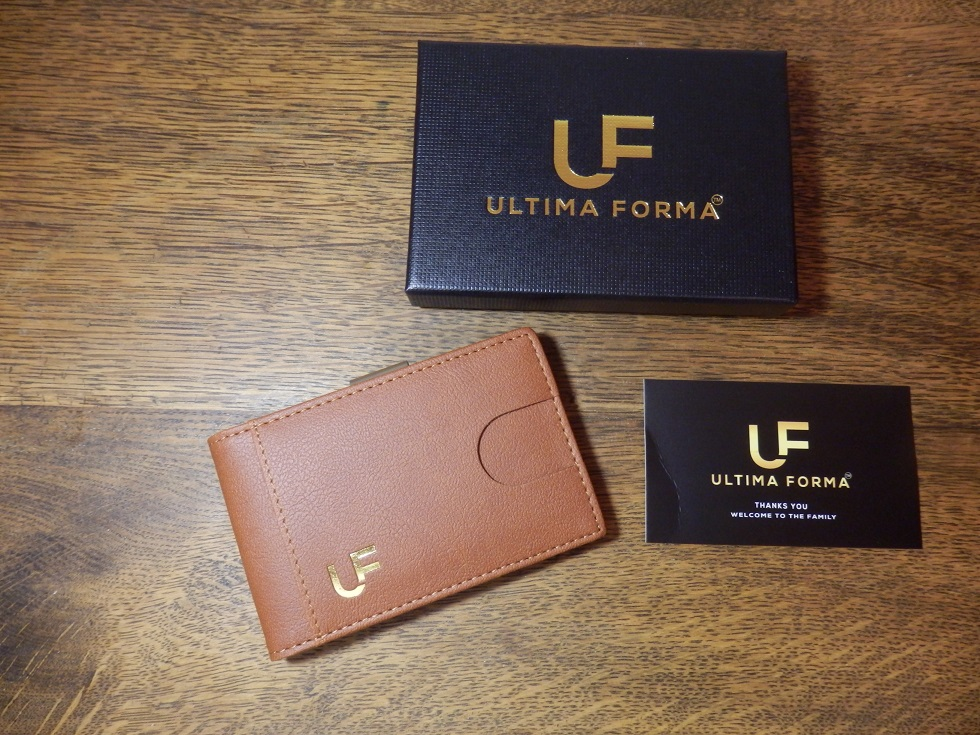 Slim and Stylish RFID Blocking Leather Wallet with Money Clip by Ultima Forma