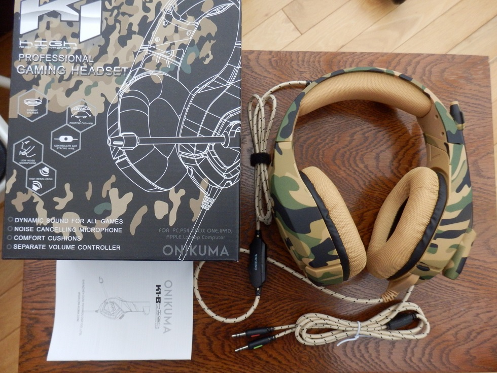 ONIKUMA Camouflage Stereo Gaming Headphones with crystal clear stereo sound by Zakitane