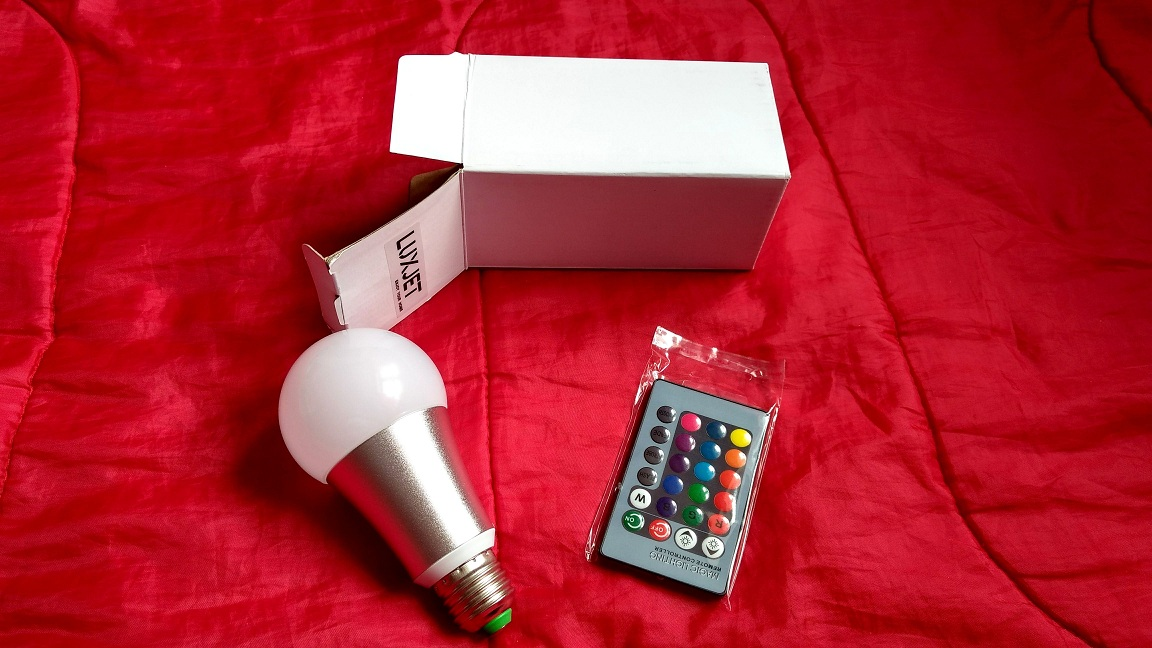 A Colour Changing Low Energy Bulb Ideal For Room Mood Enhancement