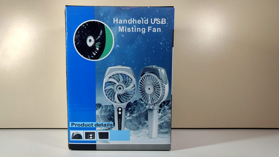 This Mini Rechargeable Fan With A Misting Function Is Cool