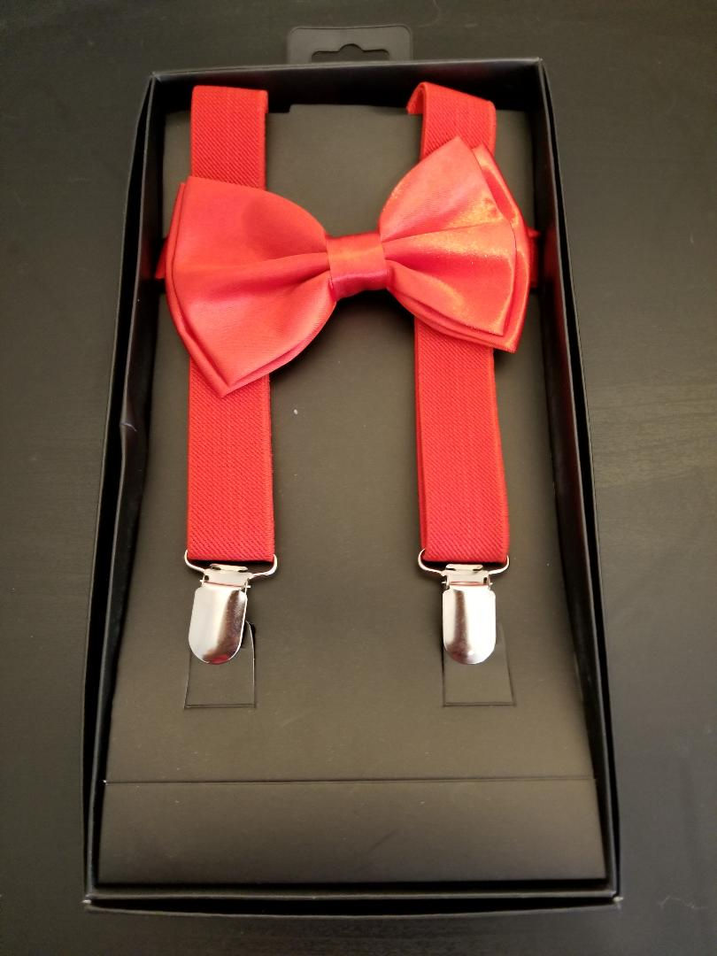 RIGY Bow tie and Suspenders for Men - Premium quality Bow tie and Suspenders Men Set - with Gift Box