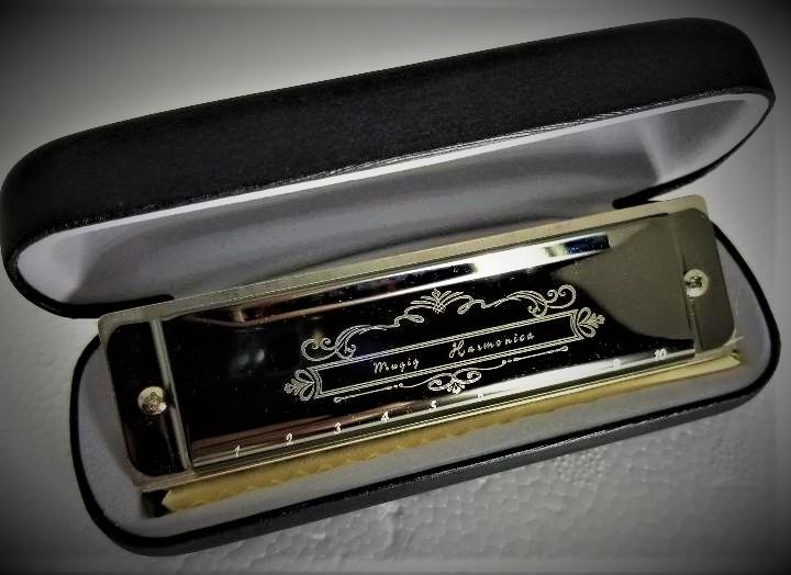 Mugig Blues Harmonica 10 Hole 20 Tones Harmonica C Blues Professional Harmonica