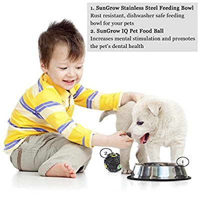 Great well built pet food bowl set.