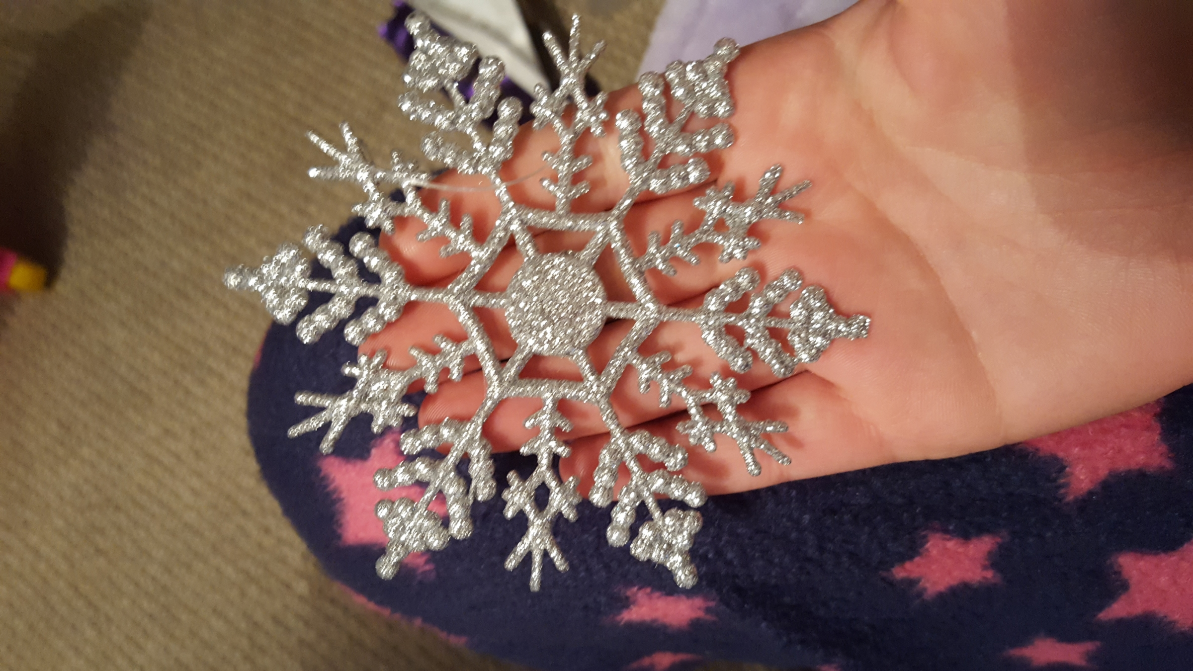 Hanging snowflakes(silver)