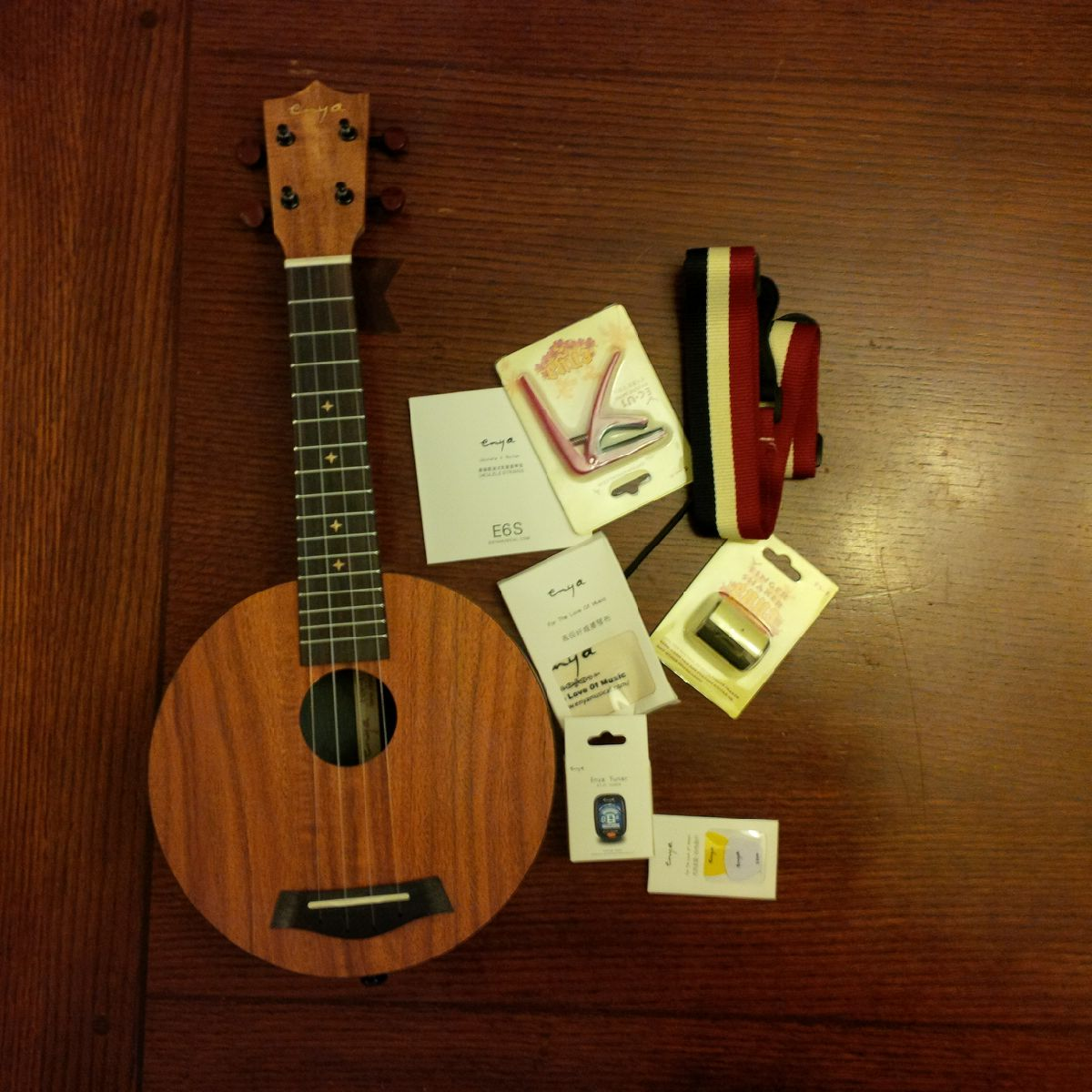 Ukulele with accessories