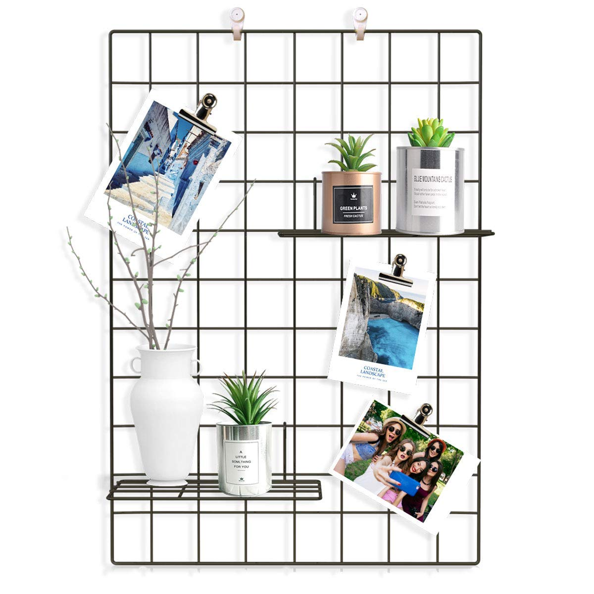 Great grid wall for photo display