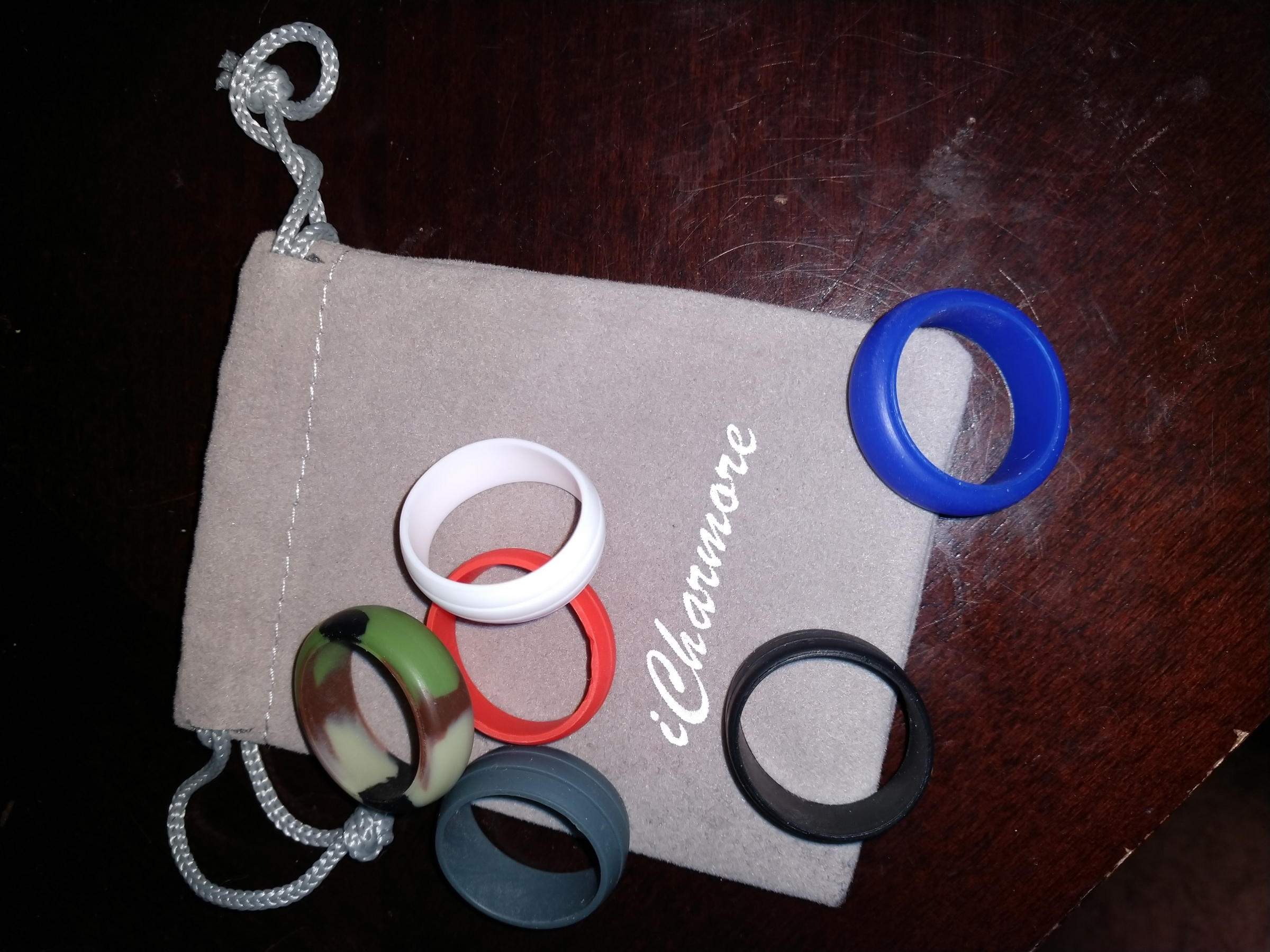 I bought these rings for my husband and he loves them. Comfortable fit for his weight lifting needs.True to ring size!