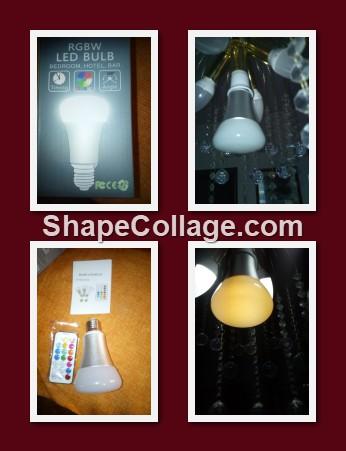 Amteker RGBW Lampadina LED