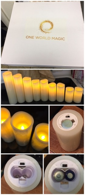 Magic Flameless Candle Set